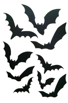 Excited to share the latest addition to my shop: Bat cut outs for halloween decorations, bat silhouette, party decor, 50 pieces cardstock Dulceros Halloween, Moldes Halloween, Adornos Halloween, Manualidades Halloween, Holidays Halloween, Halloween Cut Outs, Youtube Halloween, Homemade Halloween, Decoration Haloween