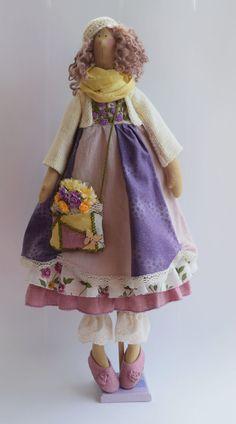 Купить Черничное настроение. Кукла с стиле Тильда. - сиреневый, тильда, кукла в стиле Тильда