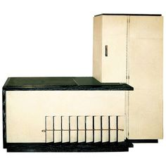 Jean Royere Art Deco Cabinet in Parchment and Oak ca1937