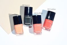 chanel summer 2017 cruise collection makeup review swatches le vernis nail polish coquillage sargasso coralium sea whip