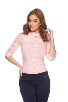 starshiners--Fofy Ideal Look Peach Ungur-- Peach Shirt, Long Sleeve, Casual, Sleeves, Sweaters, Shirts, Collection, Tops, Women