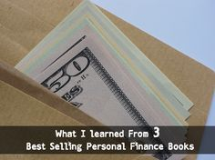 What I learned from 3 best selling personal finance books