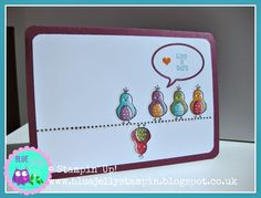 """Cute Birdie Card - Stamps: SU """"Day to Day"""" + SU Hostess Exclusive Stamp Set """"Hello Love"""" 