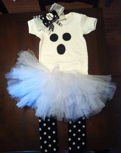 Baby - Toddler costume, ghost costume, everything included. $40.00, via Etsy.