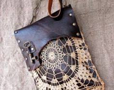 RESERVED FOR VINNIE Boho Leather Messenger Bag by UrbanHeirlooms