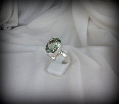 Green Amethyst Ring #jewelry