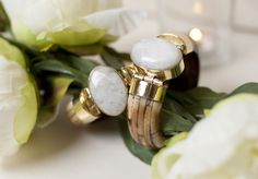 Buffalo Bone and Semi Precious Stone Cuffs $56 at Color! Featured on Oprah's favorite things list!