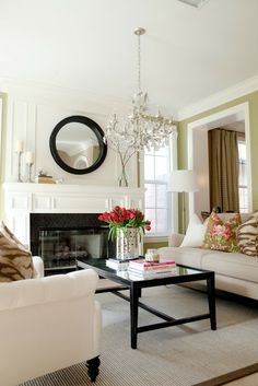LOVELY LIVING ROOM-Really liking this look, but not sure it will fly with small children around the home.