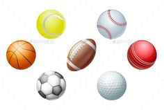 Sports Balls - Man-made Objects #Objects Download here: https://graphicriver.net/item/sports-balls/19719457?ref=alena994