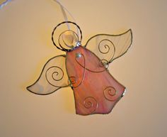 Religious Gift Stained Glass Angel Suncatcher Baby by GlassByKat, $22.00