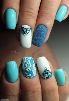 and Beautiful Nail Art Designs Pretty Nail Art, Cute Nail Art, Gel Nail Art, Acrylic Nails, Spring Nail Art, Spring Nails, Beautiful Nail Designs, Beautiful Nail Art, Nail Polish Designs