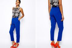 Look like the bombshell you are in this pair of royal blue peg pants.