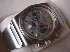 VINTAGE MOVADO-ZENITH ESPADA EL PRIMERO CHRONOGRAPH MOONPHASE WATCH CIRCA 1970!