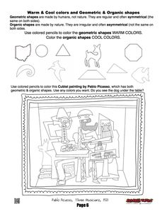 geometric and organic shape worksheet art ed elements and principles pinterest shape. Black Bedroom Furniture Sets. Home Design Ideas