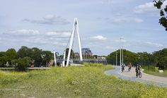Dafne Schippers Bridge   Utrecht, The Netherlands   Bureau B+B #cycleway #bikepath #sharedpath #bridge #bikebridge #cycling #citybike #transport #infrastructure #cyclist #bridge