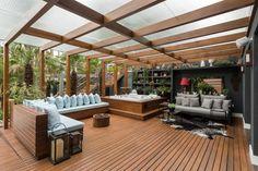 Terrasse von Plena Madeiras edel, modern - Sauna & Co. Modern Balcony, Outdoor Decor, Glass Roof, Patio Design, Terrace Design, Diy Pergola, Pergola Shade Diy