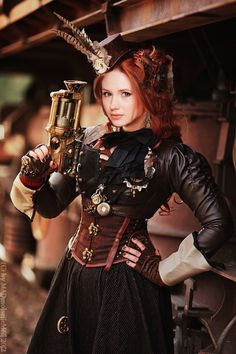 Karen Gillan Steampunk Photoshop