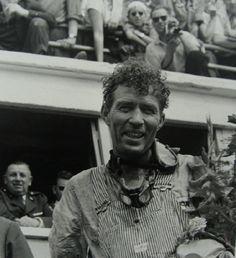 Carroll Shelby portrait Le Mans 1959