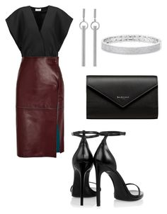 """Untitled #87"" by leticia-emberton on Polyvore featuring Yves Saint Laurent, Jil Sander, By Malene Birger, Balenciaga, Isabel Marant and Anne Sisteron"