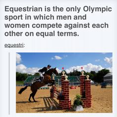 Also the rider's age is not a problem. In London Olympics the oldest participant was a Japanese dressage rider, 70-and-some years. Youngest rider was probably 19...