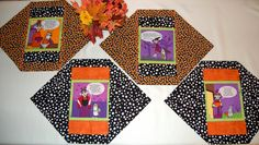 Halloween Maxine Set of 4 Placemats. Make for FUN holiday decorating and conversations at the PARTY!