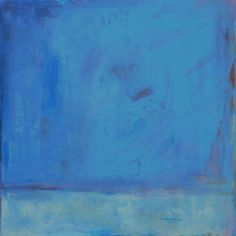 Abstract Landscape Painting 30x30 Large Minimalistic Painting, Winter Snow, blue, original art west elm featured artist