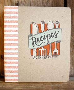 Letterpress Recipe Card Binder KitPAGES & TABS ONLY by 1canoe2, $23.00