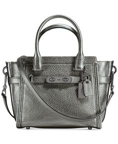 cf04af35ee27 Coach Swagger 21 Carryall in Pebble Leather Coach Purses