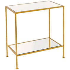 Worlds Away 2-Tier Rectangular Side Table PLANO G