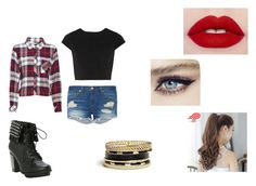 """""""Flannels"""" by justyouraveragefangirlxx ❤ liked on Polyvore featuring Alice + Olivia, Rails, rag & bone, GUESS and Pin Show"""