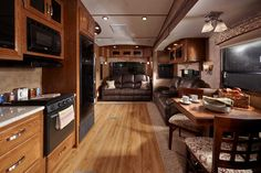 Front Living Room Fifth Wheel With Hardwood Floors