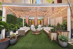 Jennifer Lopez's garden in NYC