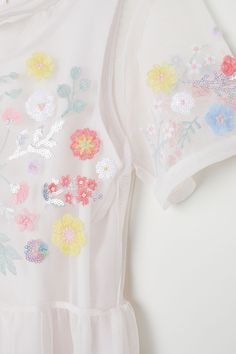 Embroidered dress - Pale pink/Floral - Kids | H&M GB 6