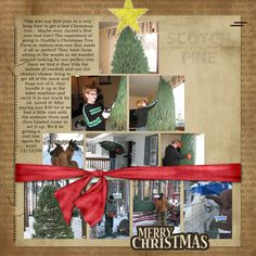 christmas scrapbook layout building a tree with tree photos