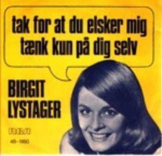 """Single med Birgit Lysager. A-siden hedder """"Tak for at du elsker mig"""""""