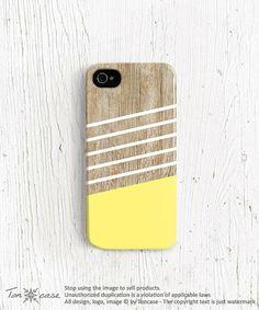 Stripe iPhone 5 case, Stripe iPhone 4 case, iPhone 4s case, wood print iphone case wood effect geometric yellow wood iphone 4 case | http://iphonecase621.blogspot.com