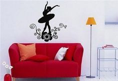 Ballet Dancer Dance Inspirational Decor Wall Art Sticker Decal 3531