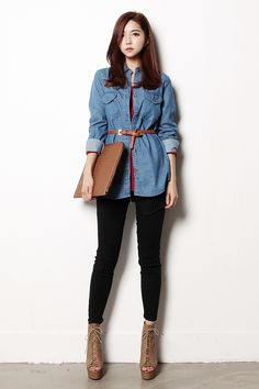 Don't know that I'm too into denim but I like this!