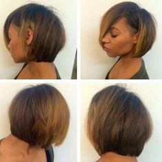 Love this bob with the lil side shave! Color is awesome too.