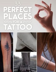 33 Perfect Places For A Tattoo