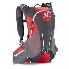 Salomon Agile 12L Set Trail Mesh Pockets Black Zip Backpack Rucksack Bag One