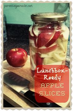 Lunchbox ready apple slices