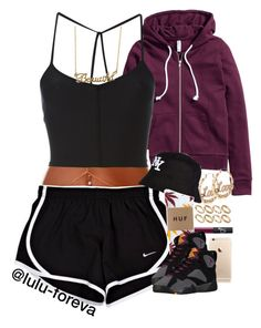 """""""Untitled #1597"""" by lulu-foreva ❤ liked on Polyvore featuring H&M, ASOS, Ann Demeulemeester, NARS Cosmetics, River Island, HUF and Forever 21"""