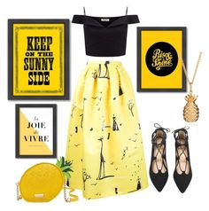 """Motivators"" by guzeliko ❤ liked on Polyvore featuring Rochas, Lipsy, Americanflat, Rachel Jackson and Kate Spade"