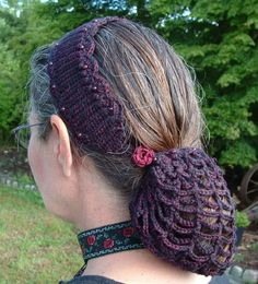 Crochet Hair Bun Covers and Snoods – 10 free patterns | Grandmother's Pattern Book