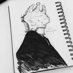 """""""Life is meaningless"""" Day 4 - #blockhead  #art #doom #seasonofthebadguysclub2 #inktober #inktober2017 #inktoberid #drawloween #darkartist #lifeformdrawing #lowbrowart #lowbrowwolfpack #portal #popsurrealism #illustration #hamburgart #deathmetalart #sketch #sketchbook"""