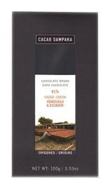 C Sampaka Ciocolata neagra cacao Venezuela & Ecuador Ecuador, Venezuela