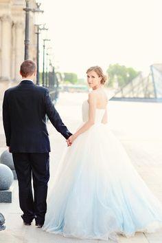 Dip Dye & Ombre Wedding Dresses | SouthBound Bride
