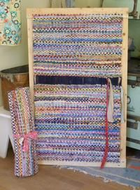 Twined Rag Rug On Frame