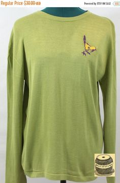 30% Off Sale Light olive green silk blend top embroidered with tiny gold  finch design 3b202f5da9e6